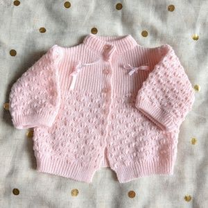 Knitted 0-6M Baby Sweater